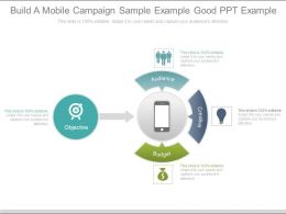 Build A Mobile Campaign Sample Example Good Ppt Example