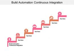 Build Automation Continuous Integration Ppt Powerpoint Presentation Styles Slideshow Cpb