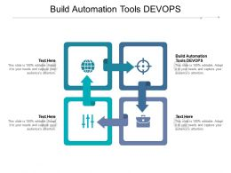 Build Automation Tools Devops Ppt Powerpoint Presentation Visual Aids Professional Cpb
