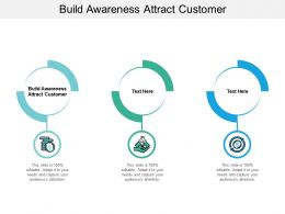 Build Awareness Attract Customer Ppt Powerpoint Presentation Slides Tips Cpb