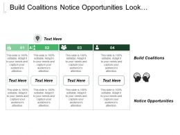 Build Coalitions Notice Opportunities Look Opportunities Solicit Feedback