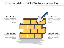 Build Foundation Bricks Wall Accessories Icon