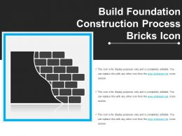 Build Foundation Construction Process Bricks Icon