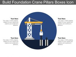 Build Foundation Crane Pillars Boxes Icon