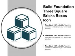 Build Foundation Three Square Bricks Boxes Icon