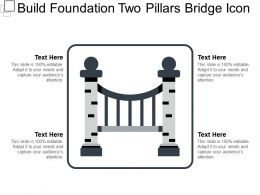 Build Foundation Two Pillars Bridge Icon