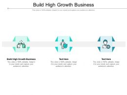 Build High Growth Business Ppt Powerpoint Presentation Model Icon Cpb