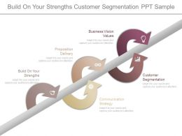Build On Your Strengths Customer Segmentation Ppt Sample