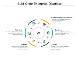Build Order Enterprise Database Ppt Powerpoint Presentation Summary Portfolio Cpb