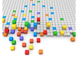 Build Platform With Cubes Stock Photo