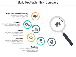 Build Profitable New Company Ppt Powerpoint Presentation Gallery Example Cpb