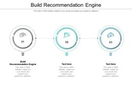 Build Recommendation Engine Ppt Powerpoint Presentation Styles Designs Download Cpb
