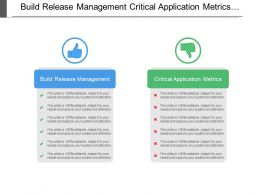 Build Release Management Critical Application Metrics Performance Improvement