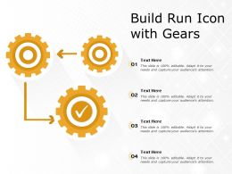 Build Run Icon With Gears