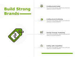 Build Strong Brands Crafting Finance Ppt Powerpoint Presentation Show Background