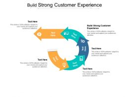 Build Strong Customer Experience Ppt Powerpoint Presentation Pictures File Formats Cpb