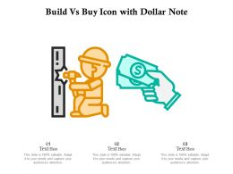 Build Vs Buy Icon With Dollar Note