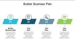 Builder Business Plan Ppt Powerpoint Presentation Infographics Ideas Cpb