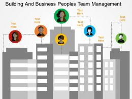 Building And Business Peoples Team Management Flat Powerpoint Design
