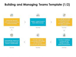 Building And Managing Teams Development Ppt Powerpoint Template