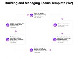 Building And Managing Teams Leader Ppt Powerpoint Presentation Inspiration