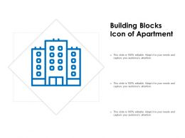 Building Blocks Icon Of Apartment