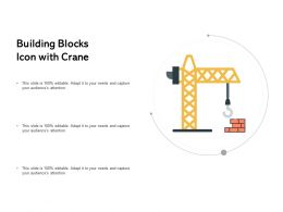 Building Blocks Icon With Crane