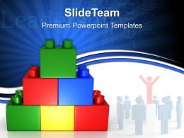 Building Blocks Math Powerpoint Templates Business Leadership Ppt Process