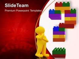 Building Blocks Sets Powerpoint Templates Time To Think Business Success Ppt Slides