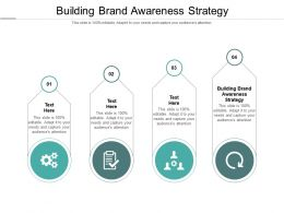 Building Brand Awareness Strategy Ppt Powerpoint Presentation Gallery Shapes Cpb
