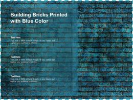 Building Bricks Printed With Blue Color