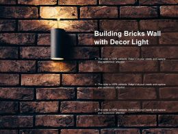Building Bricks Wall With Decor Light
