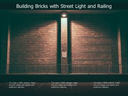 Building Bricks With Street Light And Railing