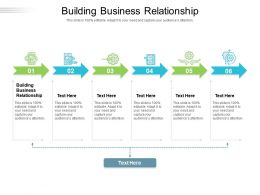 Building Business Relationship Ppt Powerpoint Presentation File Graphics Design Cpb