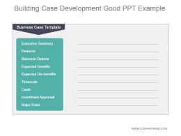 Building Case Development Good Ppt Example