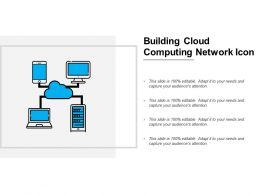 Building Cloud Computing Network Icon