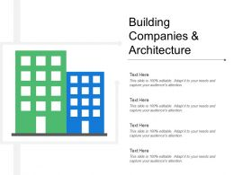 Building Companies And Architecture