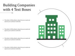 Building Companies With 4 Text Boxes