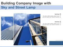 Building Company Image With Sky And Street Lamp