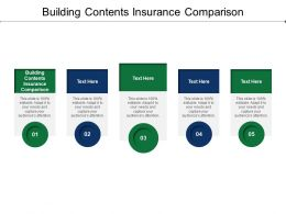 Building Contents Insurance Comparison Ppt Powerpoint Presentation Summary Introduction Cpb