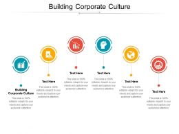 Building Corporate Culture Ppt Powerpoint Presentation Portfolio Icons Cpb