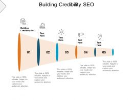 Building Credibility SEO Ppt Powerpoint Presentation Show Slides Cpb