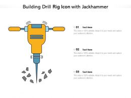 Building Drill Rig Icon With Jackhammer