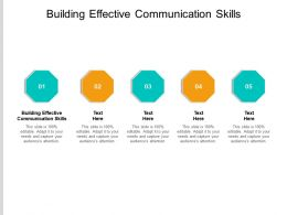 Building Effective Communication Skills Ppt Powerpoint Infographics Influencers Cpb