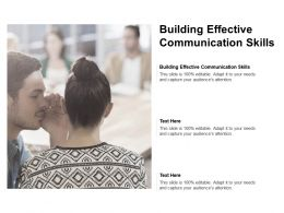 Building Effective Communication Skills Ppt Powerpoint Presentation Inspiration Ideas Cpb