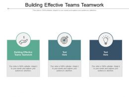 Building Effective Teams Teamwork Ppt Powerpoint Presentation Show Layouts Cpb