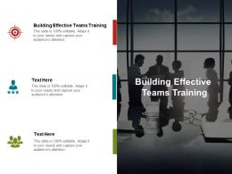 Building Effective Teams Training Ppt Powerpoint Presentation Icon Shapes Cpb