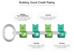 Building Good Credit Rating Ppt Powerpoint Presentation Model Background Image Cpb