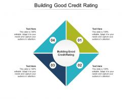Building Good Credit Rating Ppt Powerpoint Presentation Professional Format Ideas Cpb