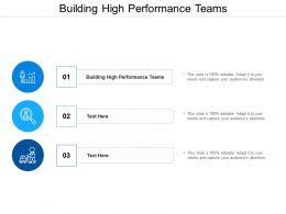 Building High Performance Teams Ppt Powerpoint Presentation File Sample Cpb